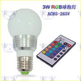 $enCountryForm.capitalKeyWord Australia - RGB LED Globe Bulb 3W AC DC 110V 240V 85-265V GU10 E27 B22 E14 16 Colorful Changing LED Light Bulb Lamp IR Remote Control with Wireless