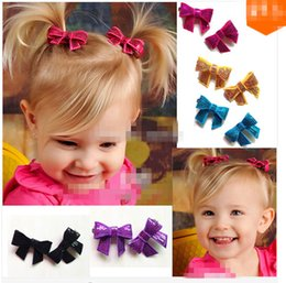 Baby Sequin Hair Clips Wholesale Canada - Free Shipping 24 Pcs lot Baby Sequin Hair Bow,Small Sequin Hair Bows With Clip,Bling Hair Clip For Girls,Sequin Hair Accessories