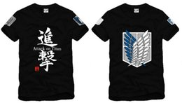 online shopping new japanese anime tshirt Attack on Titan Scouting Legion both sides printed t shirt cotton color