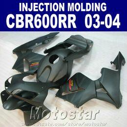 $enCountryForm.capitalKeyWord Australia - Injection ABS plastic fairings kit for HONDA CBR 600RR 2003 200403 04 CBR600RR black motorcycle fairing set SD7H