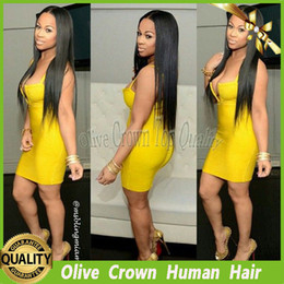 Half Lace Wig Brazilian Hair Canada - Virign Brazilian Human Hair Silky Straight Lace Front Wig 100% Unprocessed Hair Full Lace Wig Stright With Baby Hair