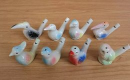 China 100pcs wholesale dropship new arrival water bird whistle clay bird ceramic Glazed bird whistle-peacock Birds Free Shipping suppliers