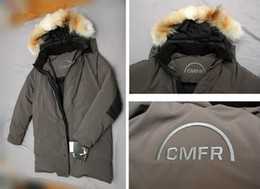 Down Shows Canada - Real photos show the CMFR man down jackets Gormley Parka with fur hood Canada Sweden snow wintter