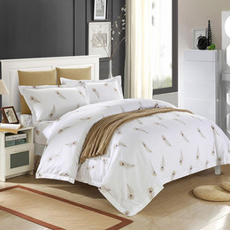 fresh look modern feather comforter bedding sets bedspreads for full queen king beds 4 5pc include duvet cover sheet pillowsham