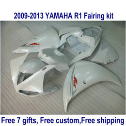 R1 12 Canada - Free shipping ABS fairing kit for YAMAHA R1 2009-2013 all glossy white fairings set YZF R1 09-11 12 13 HA72