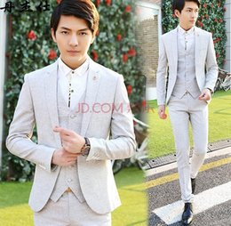 white royal blue groom's suit NZ - The new suit The groom's best man wedding dress male han edition cultivate one's morality men's job interview business suits
