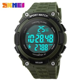 China Best Selling 2017 SKMEI Brand Outdoor Sports Watches Men LED 50M Waterproof Digital Wristwatches Pedometer Chronograph Military Army Watch cheap best waterproof watches suppliers
