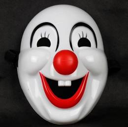 Маскарад клоун красный нос фильм клоун шут Маска пластиковая маска клоуна для партии Рождество Хэллоуин Моды на Распродаже