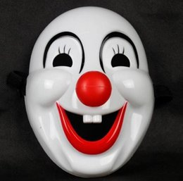 Jester Jolly Masks Australia - Masquerade Clown Red Nose Movie Clown Jester Mask Plastic Clown Mask for Party Christmas Halloween Fashion