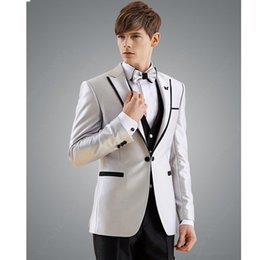 Purple Tuxedo Coat Canada - Man Suit Groomsman Suit Custom Made Groom Tuxedos Costume Homme Blaze Suits 3 sets (coat + pants+vest) made to order