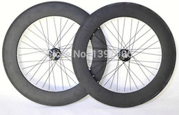 $enCountryForm.capitalKeyWord Canada - carbon wheelset track bikes 88mm 23mm width OEM carbon clincher wheels for road bicycle track novatec hubs carbon rims