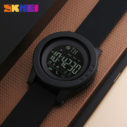 universal smart watch NZ - SKMEI men and women universal smart watch calorie pedometer multi-function remote control camera 50M waterproof digital men's SmartWatch Rel