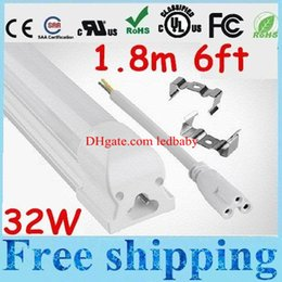 Frost Fluorescent Light Canada - UL Certification T8 Integrated 32W 6ft 1.8m Led Tube Lights Frosted transparent Cover Warm Natural Cool White Led Fluorescent Lamp 85-265V