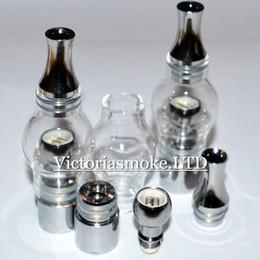 $enCountryForm.capitalKeyWord NZ - Newest Glass Globe Dual Ceramic Coil Glass globe wax vaporizer Atomizer coil head Bulb Style Steel Electronic Cigarette glass bulb Atomizer