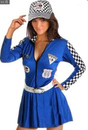 Robes De Course Sexy Pas Cher-Sexy Lingerie Racing Squad Cheerleader Mesdames Sport Dress Costume Fantaisie Costume Outfit 89288