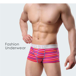 fd9111787b 2017 Hot Sale New Men Boxer Underwear Mens Shorts Boxers Homme Cuecas  Masculina Men's Cotton Striped Sexy Flat Angle Comfort Homewear