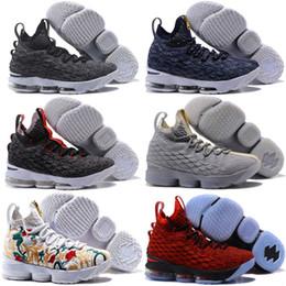 24018de3f41d 2017 top quality james 15 black gum wolf grey basketball shoes for cheap sale  lebron 15s