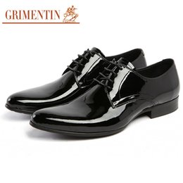 $enCountryForm.capitalKeyWord NZ - GRIMENTIN Hot Sale Patent Leather Mens Dress Shoes Fashion Designer Men Oxford Shoes Genuine Leather Wedding Formal Business Male Shoes