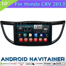 V Gps Canada - 2 Din Car Stereo Bluetooth Multimedia for Honda CRV 2013 with Android 4.4 Quad Core GPS RDS Radio OBD Mirror-Link Car Dvd