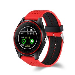 $enCountryForm.capitalKeyWord UK - V9 Smart Watch one piece sample SIM Intelligent Mobile Phone Watch Can Record the Sleep State Smart Watch with Package Free DHL