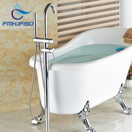 discount wall mount tub faucet hand shower wholesale and retail polished chrome brass bathroom tub faucet