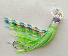 Octopus Lure Heads NZ - 9.5inch Big Sea Fishing Tuna Lure Octopus Skirt Lure Game Trolling Lure Resin Head With Skirt Hook or No Hook choose