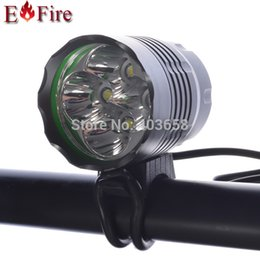 cree bicycle NZ - New Arrival 5200 Lumen 4 x CREE XM-L T6 LED Bicycle Lamp Bike led light Headlight Waterproof Design 6400Mah Battery