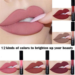 gloss lipstick brands 2019 - New brand 12 Colors Waterproof Matte Lips Liquid Lipstick Moisturizer Red Lip Makeup Stick Nude Lip Gloss Cosmetics Matt