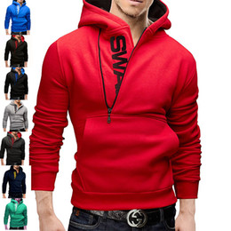 Vêtements D'extérieur Pour Hommes Pas Cher-Automne et Hiver Hommes Coton Hoodies Robe Cardigan Manteau Hommes Sport Casual Sweat Slim Fit Vestes Survêtement