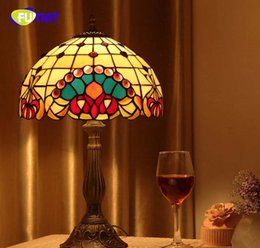 Discount vintage stained glass table lamp vintage stained glass vintage stained glass table lamp 2018 fumat brief stained glass table lamp for living room aloadofball Image collections