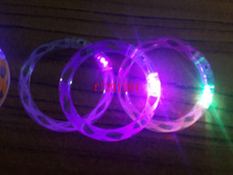 props concert supplies UK - Free Shipping 2015 New Arrival Elegant Party Concert Supplies LED Acrylic Flash Bracelet Fancy Masquerade Props
