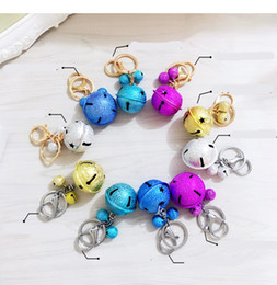$enCountryForm.capitalKeyWord NZ - Korean creative metal candy color bell key holder female handmade DIY phone shell accessories couple bag pendant