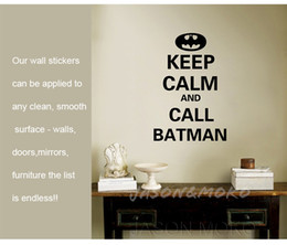 $enCountryForm.capitalKeyWord Canada - Free shipping, New removable vinyl Wall Stickers,Keep calm and call batman, Home decoration, Wall Decal, 40 * 60CM
