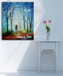 forest oil paintings NZ - Fall Scenery Forest Road Palette Knife Oil Painting Printed on Canvas Mural Art for Home Living Bedroom Wall Decoration