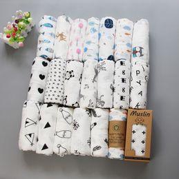Wholesale 100% cotton blanket infant cartoon aden muslin blanket swaddle toddler blanket 120*120cm 42 style free shipping on Sale