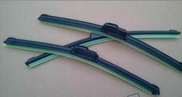 Venta al por mayor 200 unids / lote Fedex gratis Car Wiper Blade, Natural Rubber Car Wiper auto limpiaparabrisas suave cualquiera 2 tamaño opción 14-24in