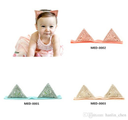 Discount med hair 2018 New Sale Mix Color Headbands Under $2 Korean Style Cute for Ears Head Band Baby Girls Headdress Soft Knot Hair Acce