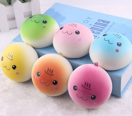 cartoon toy photos 2019 - 10cm Cute Jumbo Soft Squishy Smile bread Charms Slow Rising Kawii Kids Toy Emoji Phone Straps For Cell Phone Decoration