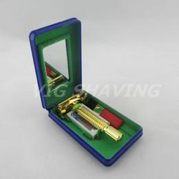 $enCountryForm.capitalKeyWord Canada - Wholesale-Noble Cuprum Metal gold plated Safety double edge weishi razor 9306A