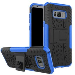 $enCountryForm.capitalKeyWord Australia - Shockproof Rubber Hard Armor Hybrid Rugged Case Protective Stand Cover for Samsung Galaxy S8 Plus