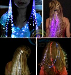 Robes Lumineuses Pas Cher-Led Light cheveux Flash Pigtail Braid cheveux décoration Fibre Luminous Braid pour Halloween Noël Party Party Holiday robes Coloré DHL