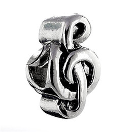 Christmas musiC note online shopping - 10 per metal Bead Cheap Music Notes Lucky European Charm Spacer Fit Pandora Bracelet