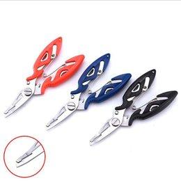 Wholesale Stainless Steel Fishing Scissors Pliers Line Cutter Lure Bait Remove Hook Tackle Tool Kits Accessories