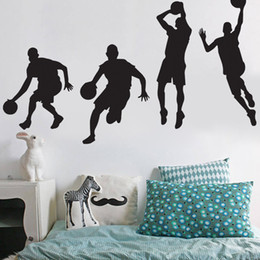 3b51cbbde02d High Quality Basketball Players Wall Stickers for Boys Basketball Decals  Sports Wallpaper Murals Kids Room Home Decor