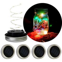 $enCountryForm.capitalKeyWord NZ - Solar Powered LED Mason Jars Light Up Lid 10 LED String Fairy Star Lights Screw on Silver Lids for Mason Glass Jars Christmas Garden Lights