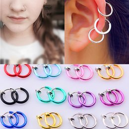 Hole Nose Australia - 2018 Fashion Hot sale 16 Colors Stealth Clip On Earrings For Women Men NO Hole Clip earrings ear cuff nose navel clips folder