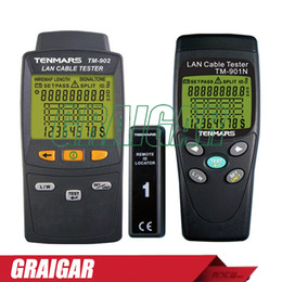 Low voLtage cabLe online shopping - Tenmars TM N_TM LAN LAN Cable Tester Handheld Low Voltage Display Network Tools Cable Tester Meter TM901N tm902N