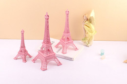 Inlaid Table Canada - 2015 New Romantic Pink Paris 3D Eiffel Tower model Alloy Eiffel Tower Metal craft for Wedding centerpieces table centerpiece