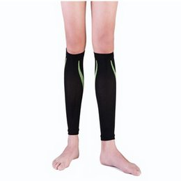 d8f2ba23af8 Wholesale- Compression Sport Running Socks Crural Sheath Pressure Socks  Leggings Leg Protection Outdoor Basketball Football Socks
