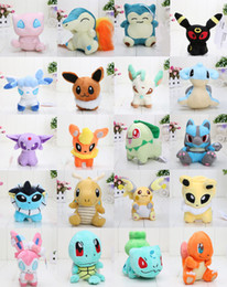 Discount pikachu soft toys - 20pcs set Anime Pikachu 20 Different style pocket Plush Character Soft Toy Stuffed Animal Collectible Doll New in Bag